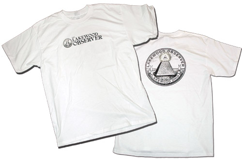 Lakewood Observer Original Style T-Shirt - GLOW IN THE DARK
