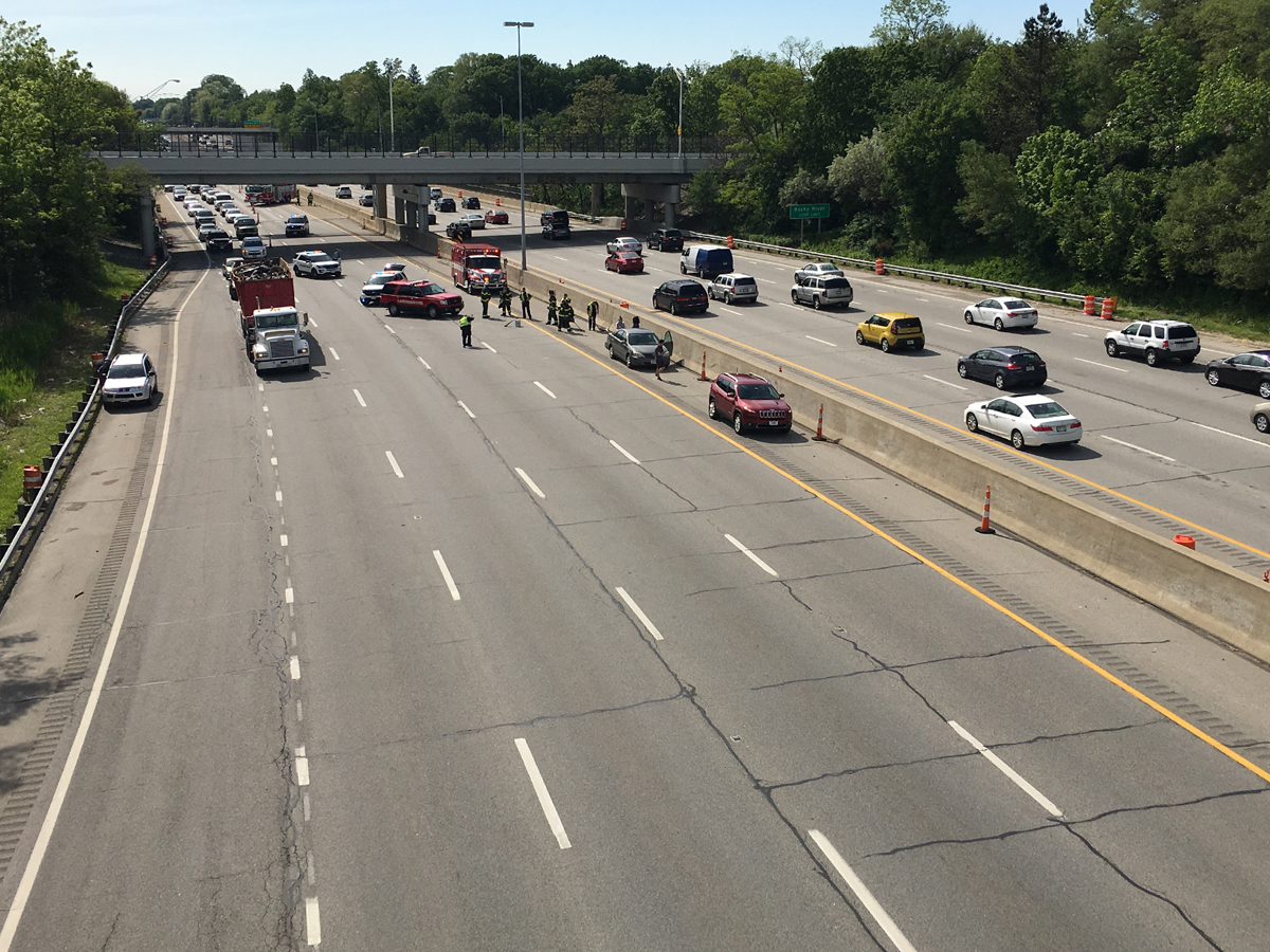 2 Car Accident I-90 Eastbound Slows Traffic To Crawl - The