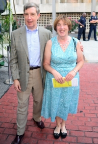 Municipal judge patrick carroll with ex mayor madeline cain