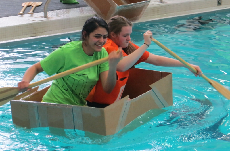 Make a cardboard boat for physics
